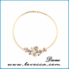 2015 newest different kinds size pink and white rhinestone necklaces