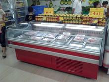 Supermarket open top meat fridge / counter top meat fridge for butchery