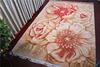 Latest flower jacquard wool area rugs