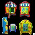 Paneles de juegos ideales para areas de espera infantil. Lefunland