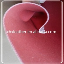 Soft pu synthetic nubuck leather,nubuck faux leather for bag DH422