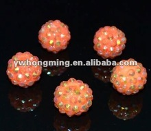 Top seller in 2012! Promotion rate! Shamballa resin beads sell at low price for hoop earrings!