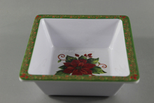 Christmas Melamine One Section Plate,Xmas Chip And Dip Plate