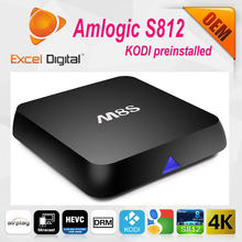Roofull trending hot products the newest smart tv box , HD free IPTV, android tv box M8S from real OEM factory