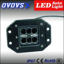 OVOVS spot/flood beam 18w flash mount driving light for truck, atv