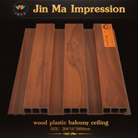2015 China Wood Plastic New Innovation Lightweight Plastic Board / Panel