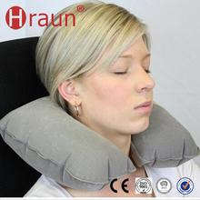 Fashional Portable Pvc Flocking Plane Pillows