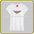Venta al por mayor personalizado logotipo de la marca de algodón de moda mujer t- shirt procedentes de china