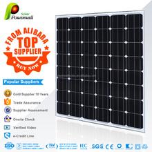 Powerwell 2015 24V 130W monocrystalline Silicon solar panels