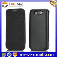 TVC-MALL For Samsung Galaxy Note 2 N7100 Battery Charger Case with Front Flip Cover 3600mAh