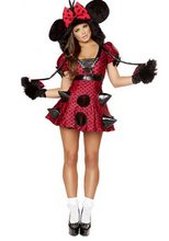 rebeldes del ratón sexy vestido disfraces l1033