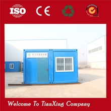Movable prefabricated folding kiosk prefab office container