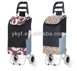 Foldable shopping trolley bag, vegetable shopping trolley, shopping cart with 2 wheels