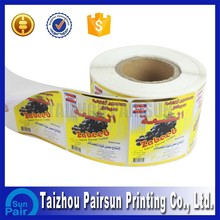 Colourful printed high quality self adhesive address labels roll