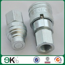 EK-FF quick release coupling, carbon steel,brass flat face shaft hydraulic quick couplings hose connectors