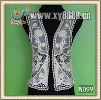 Creative design cotton lace vest for ladies