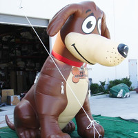 Free shipping 2.5m height lovely inflatable dog /your logo can be printed on inflatable dog for promotion