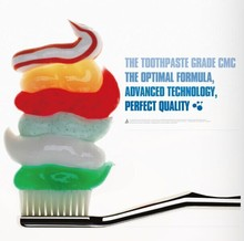 Toothpaste grade CMC for shaping, adherence and stabilizes features of toothpaste