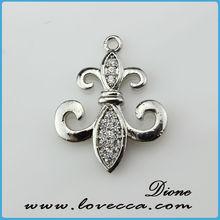 charm earring cross charm leaf charm