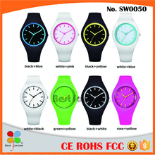 Top selling silicone rubber wristband watch silicone slap watch silicone digital watch
