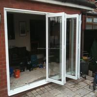Foshan wanjia pvc sliding folding doors plastic