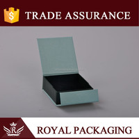 New style small folding gift box for earring packaging with blue cover flip