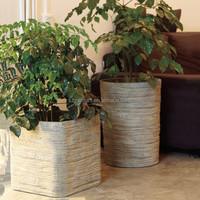 Round cement garden clay pot wholesale
