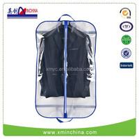 Transparent clear plastic suit garment cover bag with zipper