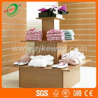 3 Tier Square Wooden Display Table Stand for Clothing Store