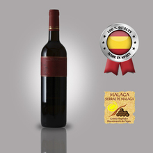 Spanish Malaga Moscatel red sweet wine