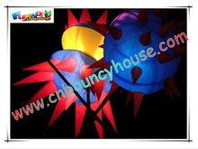 Inflatable lighting star decoration in party cone-65
