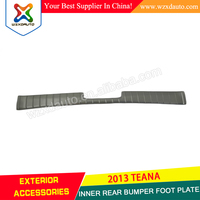 inner Rear bumpers foot plate trunk plate boot Stainless INNER REAR BUMPER FOOT PLATE FOR TEANA ALTIMA 2013