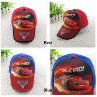 52-54CM (GH6003#)High quality Pixar cartoon 95 cars Kid Child Hat Baseball cap boy hat