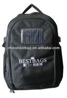 solar backpack bag for charging mobile phone
