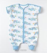 100%Organic cotton animal printed muslin baby infant sleeping bag