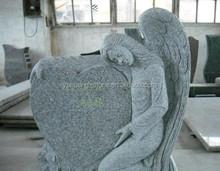 Cheap G640 Grey Granite Headstone Angel