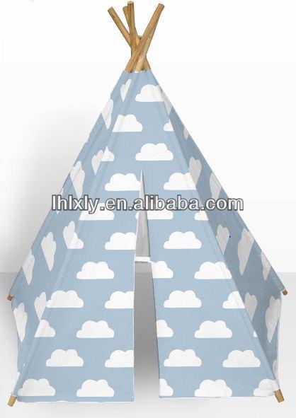 le blanc des nuages enfants jouent tente tipi indien pour le camping tente id du produit. Black Bedroom Furniture Sets. Home Design Ideas