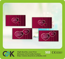 Full color printing gold foil business cards with credit card size