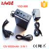 DC 12V Portable Li-ion Super Rechargeable li-on Battery Pack for wireless transmitter 5V 12000mah/9V 8500mah/12V 6500mah