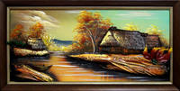 Home decor costom modern canvas oil wall picture landscape house paintingFlowers Oil Painting