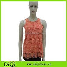 2015 new collection female clothes woman crochet blouse new tops