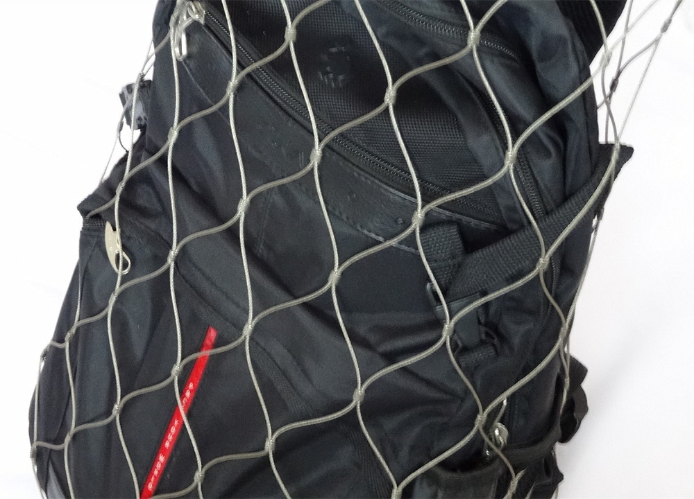 Knitting With Metal Wire : Stainless steel knitted cable mesh metal bag for anti