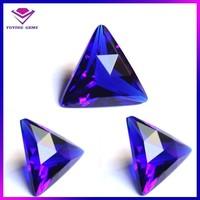 amethyst triangle shape machine cut polishing glass gems stone