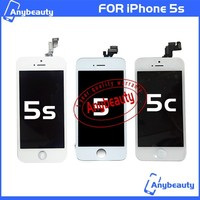 For White IPhone 5C 5S 5G LCD Display Screen + Touch Digitizer +Frame Assembly