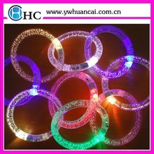 Party decoration led light glow in dark bangle bracelet