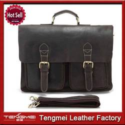 Real leather bags for men bag genuine leather briefcase promotional
