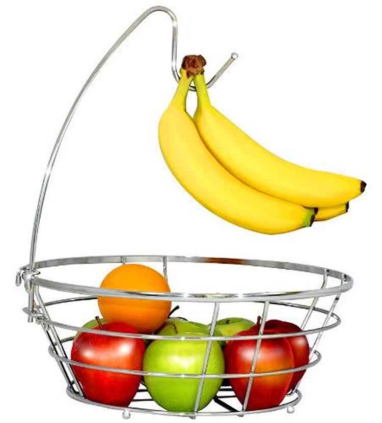 Fruits en métal de Support de Panier De Stockage De Cuisine Bol Banane Cintre