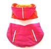 New Warm Cozy Pink waterproof Dog hoodie Coat Dog Shirt Pet Clothes Dog Dress Bow