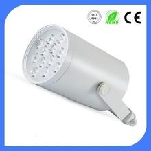 Commercial LED track light track lighting system with white/black body