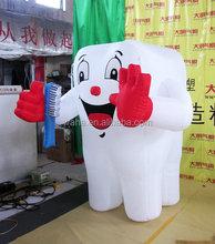 Publicidad gigante diente de dibujos animados / inflable modelo de diente